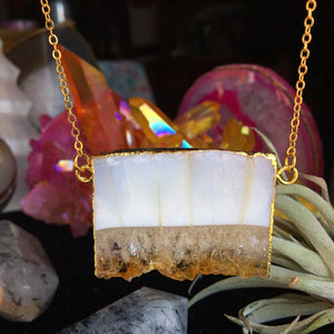 Citrine Slice  Necklace - The Whimsy Crystal Shop