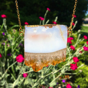 Reserved for @sheisforrest Citrine Slice Necklace - The Whimsy Crystal Shop