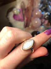 Moonstone ring size 7.5 sterling silver