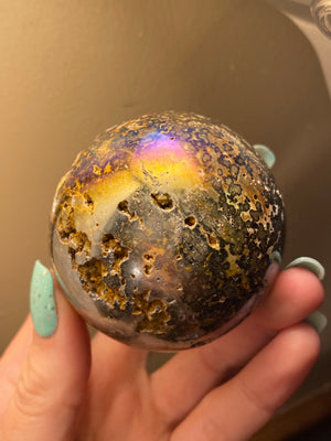 Aura ocean jasper sphere * all spheres come with wooden stands