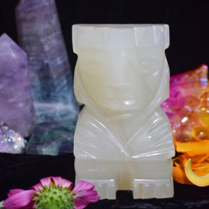 1.6lb Standing Onyx Tiki - The Whimsy Crystal Shop