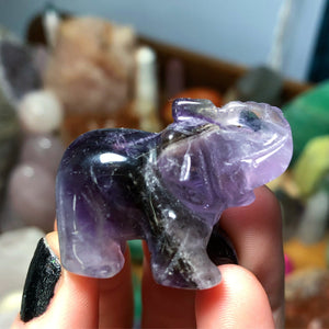 Amethyst Carved Elephant