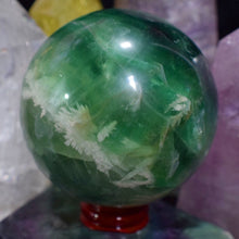 1.9lb Green Fluorite Sphere with stand - The Whimsy Crystal Shop