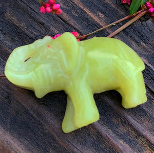 Jade Carved Elephant - The Whimsy Crystal Shop