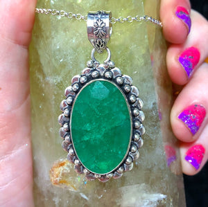 Green Emerald Necklace (925 Stamped) - The Whimsy Crystal Shop