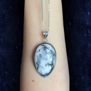 Reserved for Amanda Dendritic Opal Necklace (925 Stamped) - The Whimsy Crystal Shop