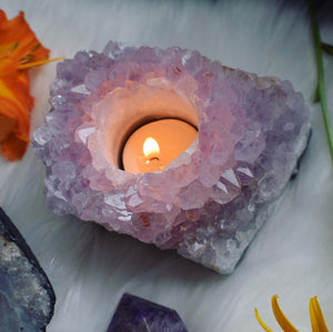 1.8lb Purple Amethyst Tealight Cluster - The Whimsy Crystal Shop