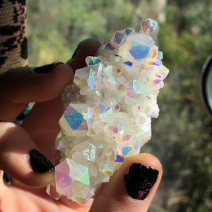 Angel Aura Confetti Quartz Cluster - The Whimsy Crystal Shop