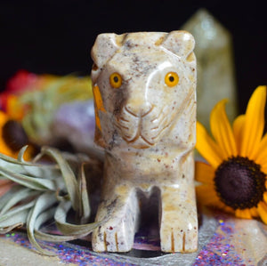 Soapstone Carved Lion - The Whimsy Crystal Shop