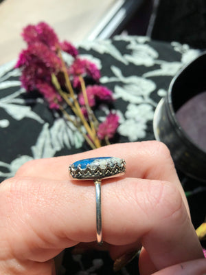 K2 stone ring size 9 sterling silver