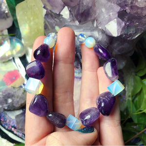 Amethyst and Opalite Bracelet - The Whimsy Crystal Shop