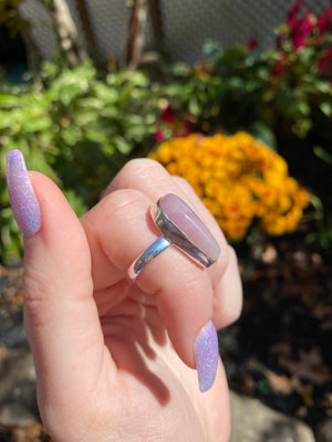 Kunzite ring size 6.25 sterling silver