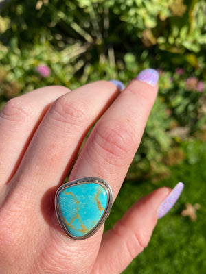 Turquoise size 8 sterling silver