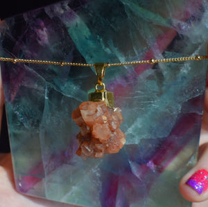 Aragonite Cluster Necklace - The Whimsy Crystal Shop