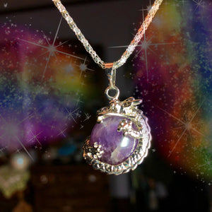 Amethyst Dragon Necklace
