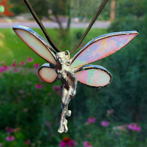 Aura Stained Glass Hanging Fairy Decoration - The Whimsy Crystal Shop