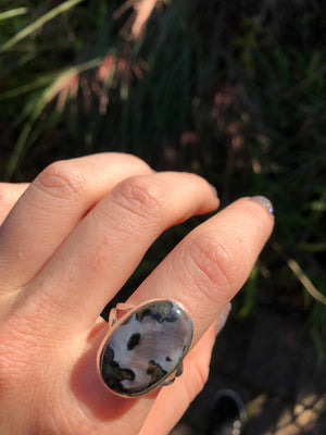 Merlinite Ring Size 10 Sterling Silver