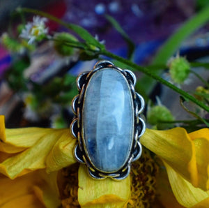 Rainbow Moonstone Ring, Size 6.5 (925 Stamped) - The Whimsy Crystal Shop