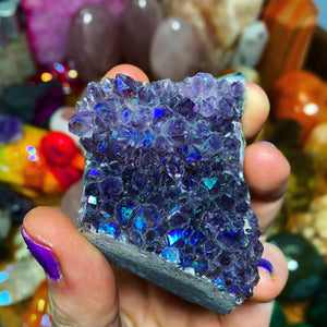 91g Amethyst Aura Cluster - The Whimsy Crystal Shop