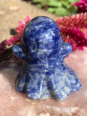 Blue Sodalite Carved Ghost