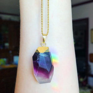 Purple Fluorite Necklace - The Whimsy Crystal Shop