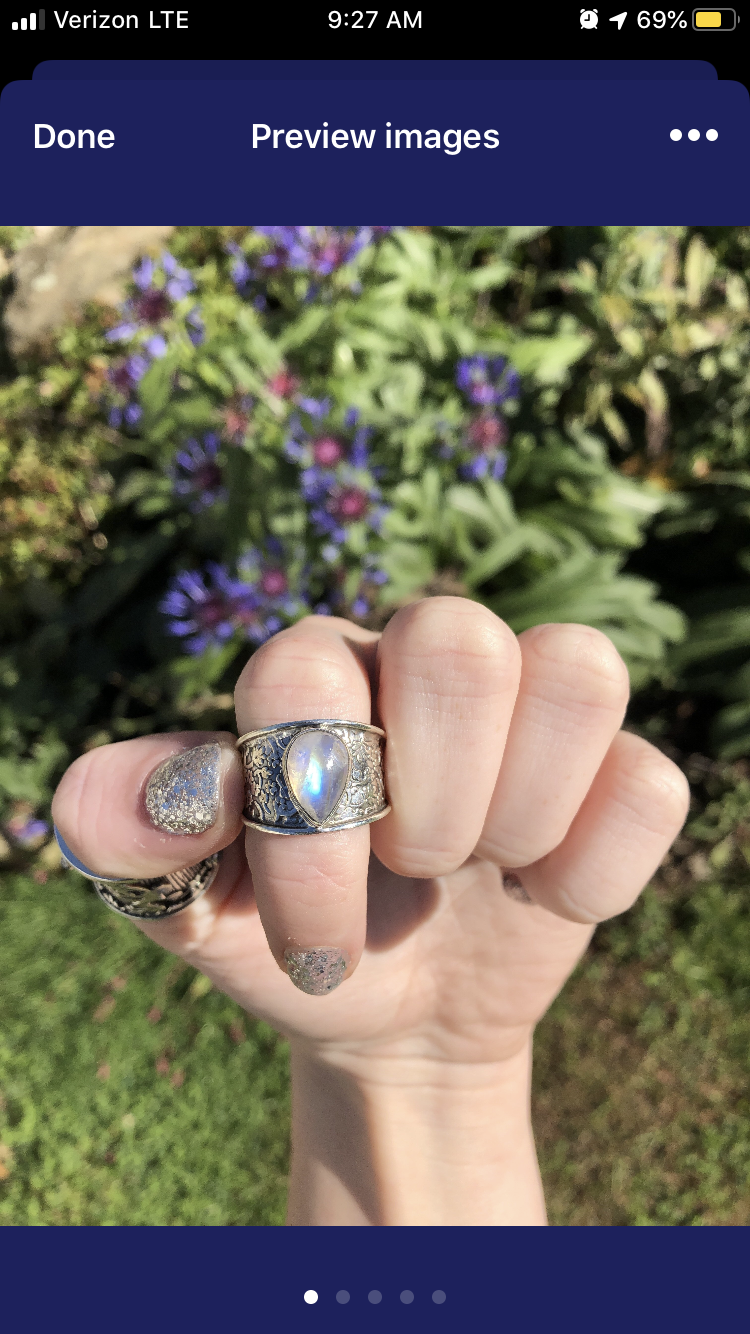 Reserved charing 10% taken off full priced ring  *Note to all: reminder that auction listings cannot be combined with discounts or free shipping)