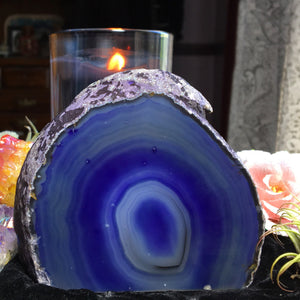 1lb Indigo Purplish Blue Agate Standing Crystal - The Whimsy Crystal Shop