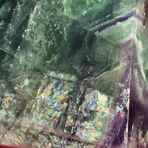 2.3lb Rainbow Fluorite Standing Wand - The Whimsy Crystal Shop