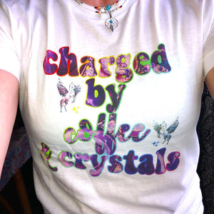 Charged By Coffee & Crystals Comfy Jersey Fit Tee