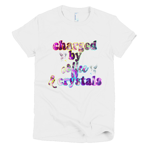 Charged By Coffee & Crystals Comfy Jersey Fit Tee Black
