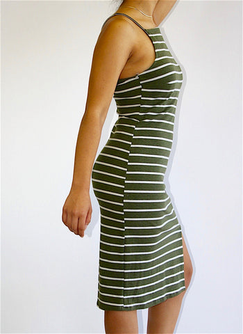 Green Striped Dress