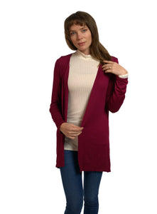 Basic Open-Front Cardigan