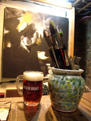 Art is better when drinking beer