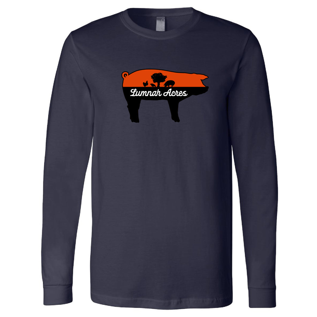 Lumnah Acres Pig Long Sleeve T-Shirt