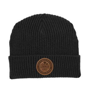 Lumnah Acres Leather Patch Beanie