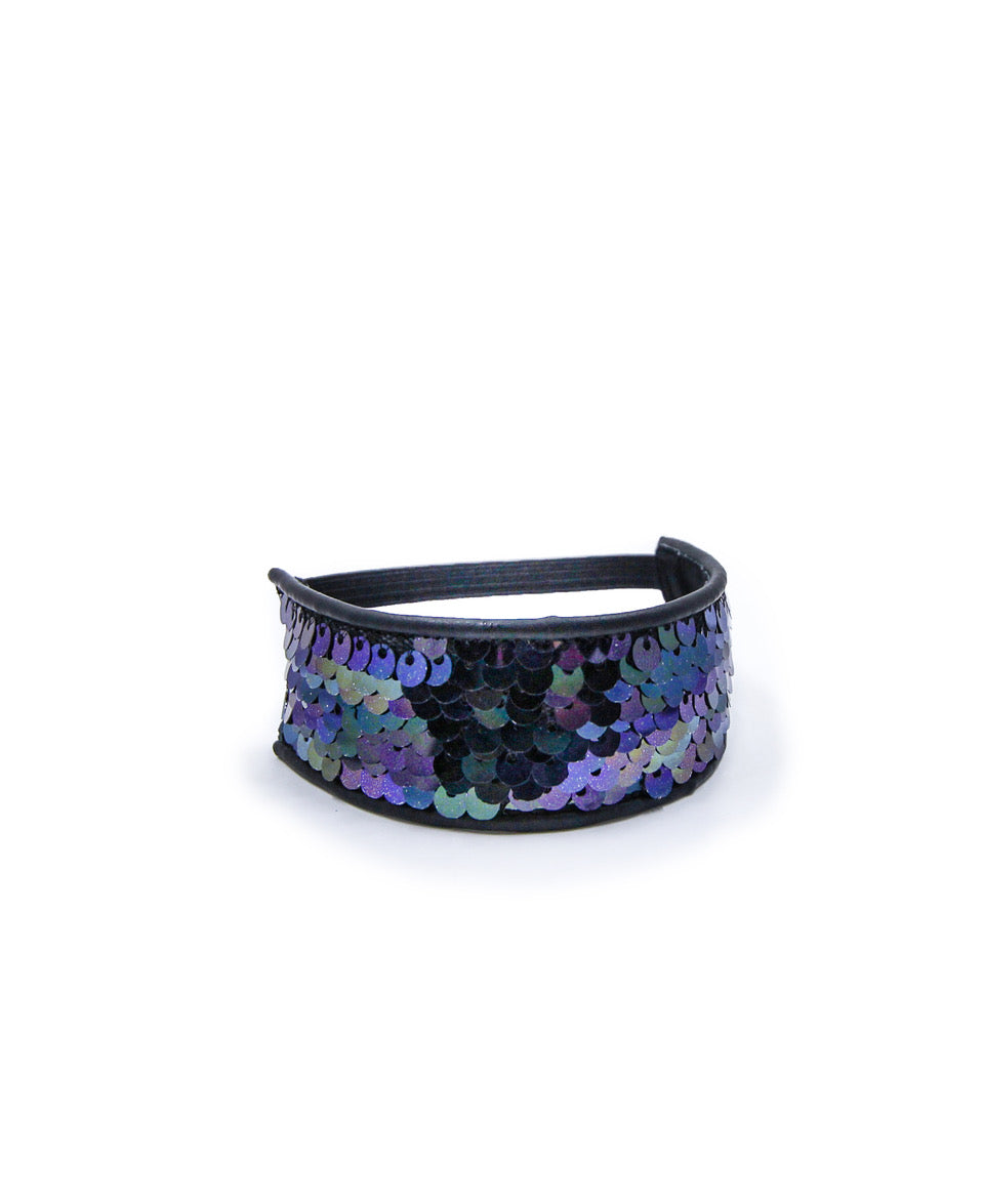 Black & Purple Sequin Accessory