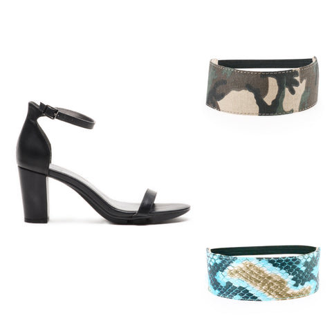 Army and Turquoise Snakeskin Bundle
