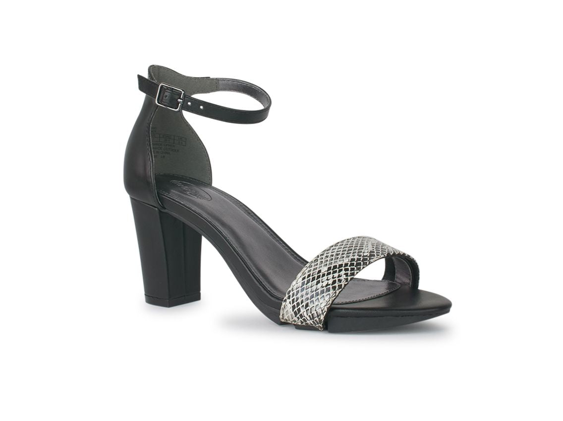 Alinio Block heel with Black & White Python shoe accessory
