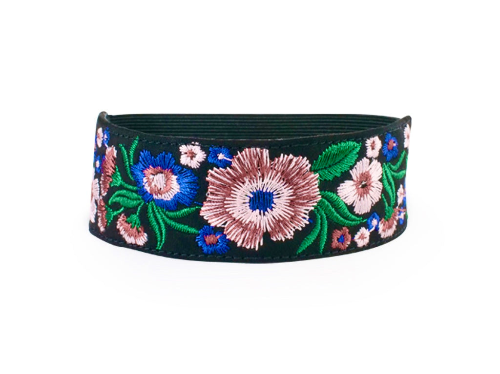 Multi Color Flower Embroidered Accessory