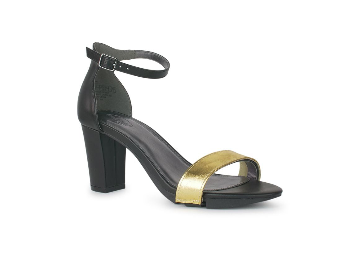 Alinio Block heel with Gold shoe accessory