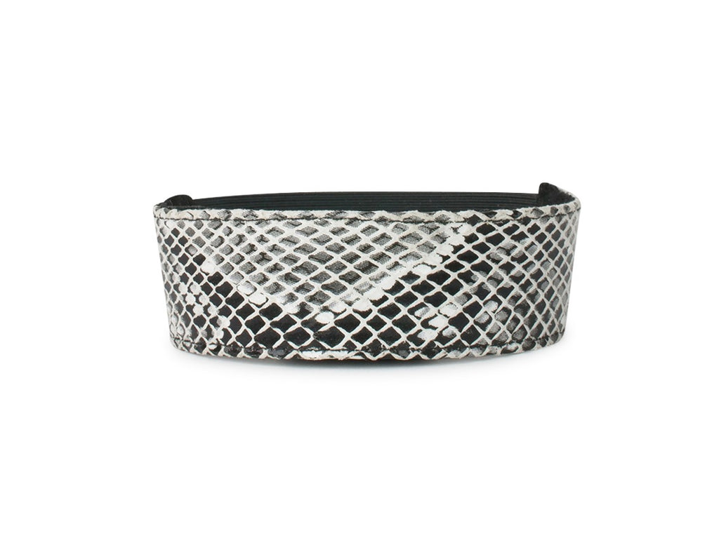 Black and White Python Shoe Accessories