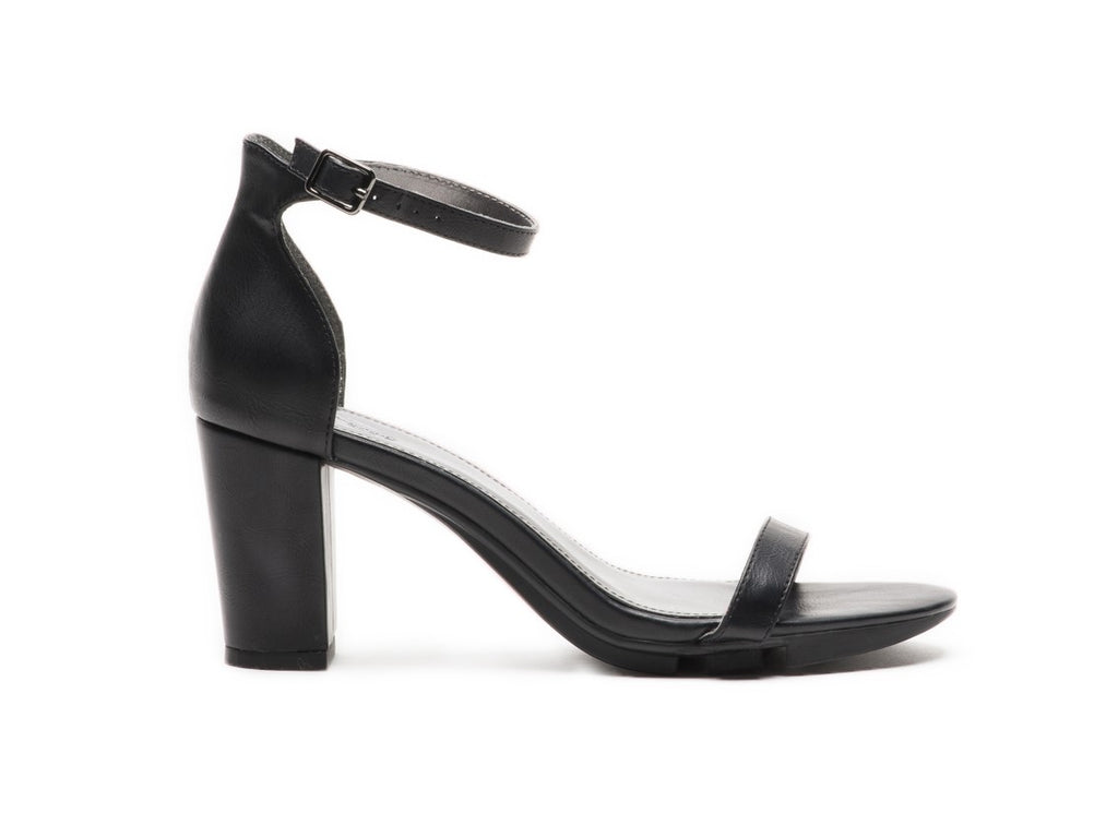 The Alinio Block Heel in black