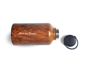BBBYO BIGG Bottle - stainless steel insulated bottle - 2000 ml - Woodgrain