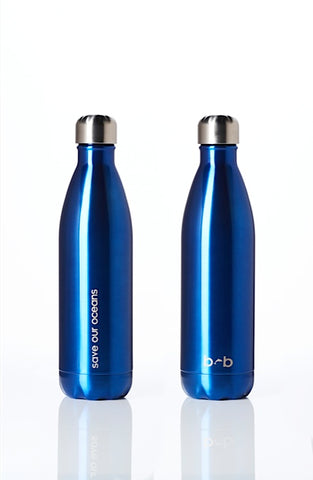 BBBYO Future Bottle - Blue -  Stainless Steel - Insulated - 500 ml