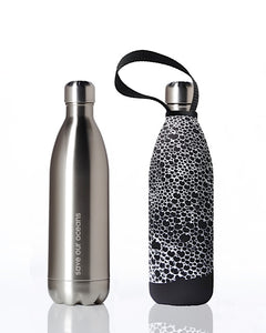 BBBYO Future Bottle + carry cover - stainless steel insulated bottle - 1000 ml - Bubble print