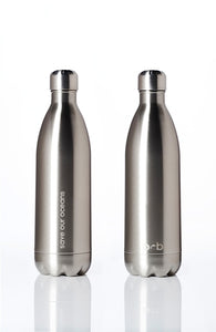 BBBYO Future Bottle + carry cover - stainless steel insulated bottle - 1000 ml - Whitewater print