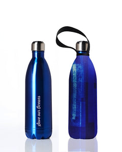 * Super Sale - BBBYO Future Bottle + carry cover - stainless steel insulated bottle - 1000 ml - Blue Blaze print