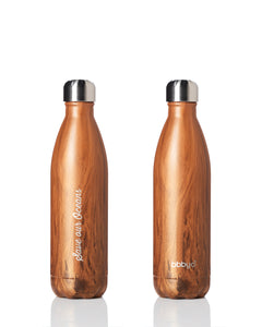 BBBYO Future Bottle + carry cover - stainless steel insulated bottle - 750 ml - Banana leaf print