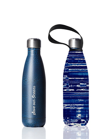* Super Sale - BBBYO Future Bottle + carry cover - stainless steel insulated bottle - 500 ml - Frequency print
