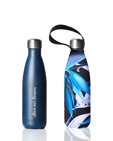 * Daily Deal - BBBYO Future Bottle + carry cover - stainless steel insulated bottle - 500 ml - Bird of Paradise print
